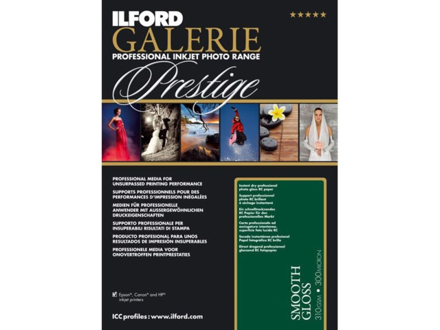Ilford Galerie Prestige Smooth Gloss A2 310gr 25 ark