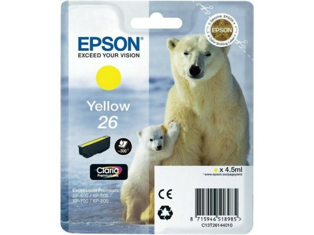 Epson Blekk T2614 Yellow L