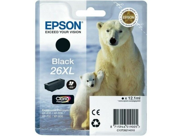Epson Blekk T2621 Black XL