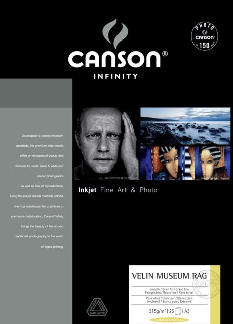 Canson Arches Velin Museum Rag 315gsm A3 A3 - 25 ark