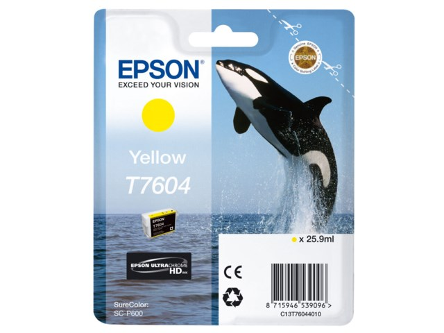 Epson Blekk T7604 Yellow