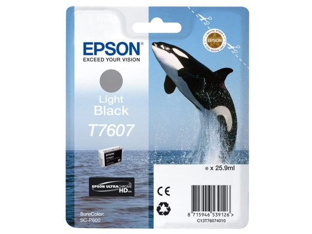 Epson Blekk T7607 Light Black