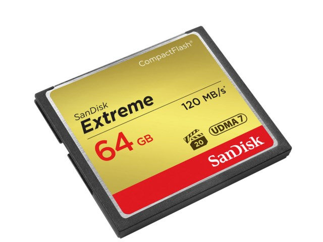 Sandisk Minnekort Compact Flash 64GB Extreme 120MB/s