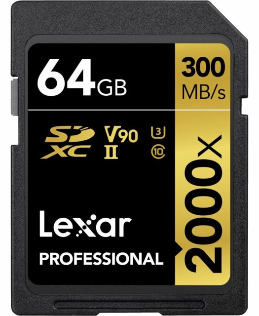 Lexar Minnekort Secure Digital 64GB SDXC 300MB/s 2000x