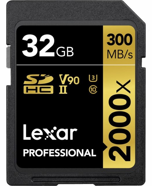 Lexar Minnekort Secure Digital 32GB SDHC 300MB/s 2000x