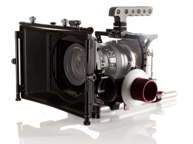 Shape A7S cagekit med mattebox och follow focus