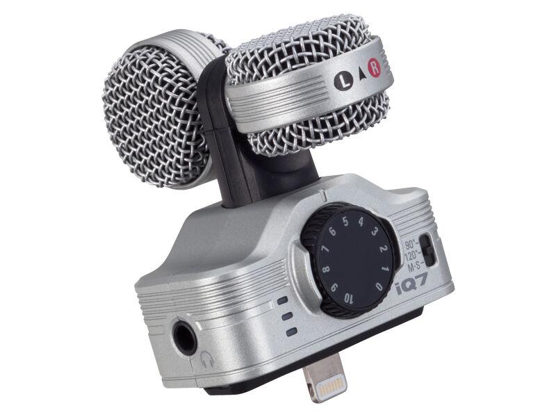 Zoom Stereomikrofon iQ7 for iPhone iPad | Scandinavianphoto.no