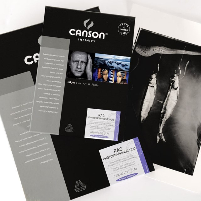 Canson Rag Photographique DUO 220gsm A4 A4 - 10 ark - Double Side Coated