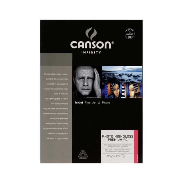 Canson Photo HighGloss 315gsm A2 A2 - 25 ark