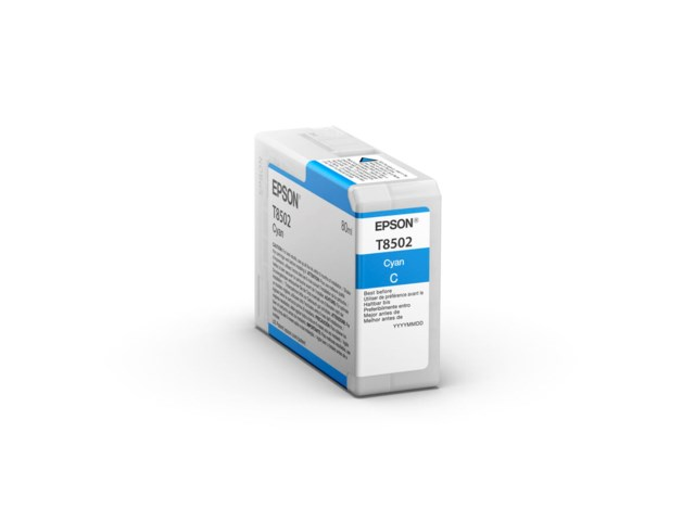 Epson Blekkpatron Ultrachrome HD cyan 80 ml T8502