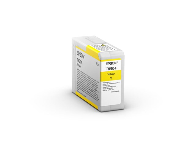 Epson Blekkpatron Ultrachrome HD gul 80 ml T8504