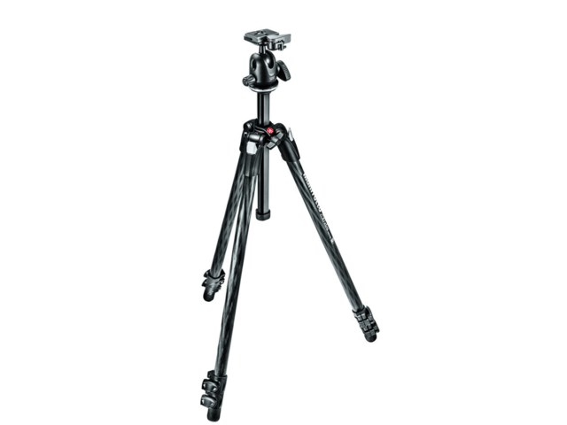 Manfrotto Stativkit 290 Xtra Karbonfiber + 496RC2 kulehode