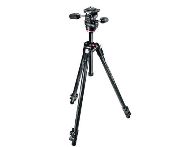 Manfrotto Stativkit 290 Xtra karbonfiber + MH804