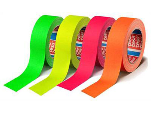 Tesa Duct tape 50mm x 25m orange Fluoriserende