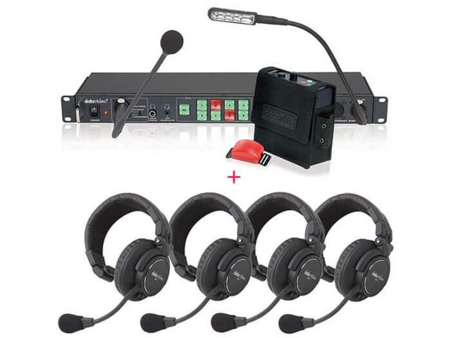 DataVideo Intercom ITC-100 med HP-1 headsets