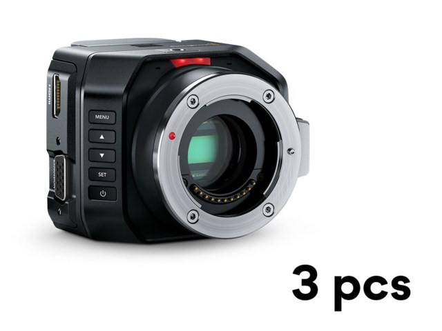 Blackmagic Design Micro Studio Camera 4K x3