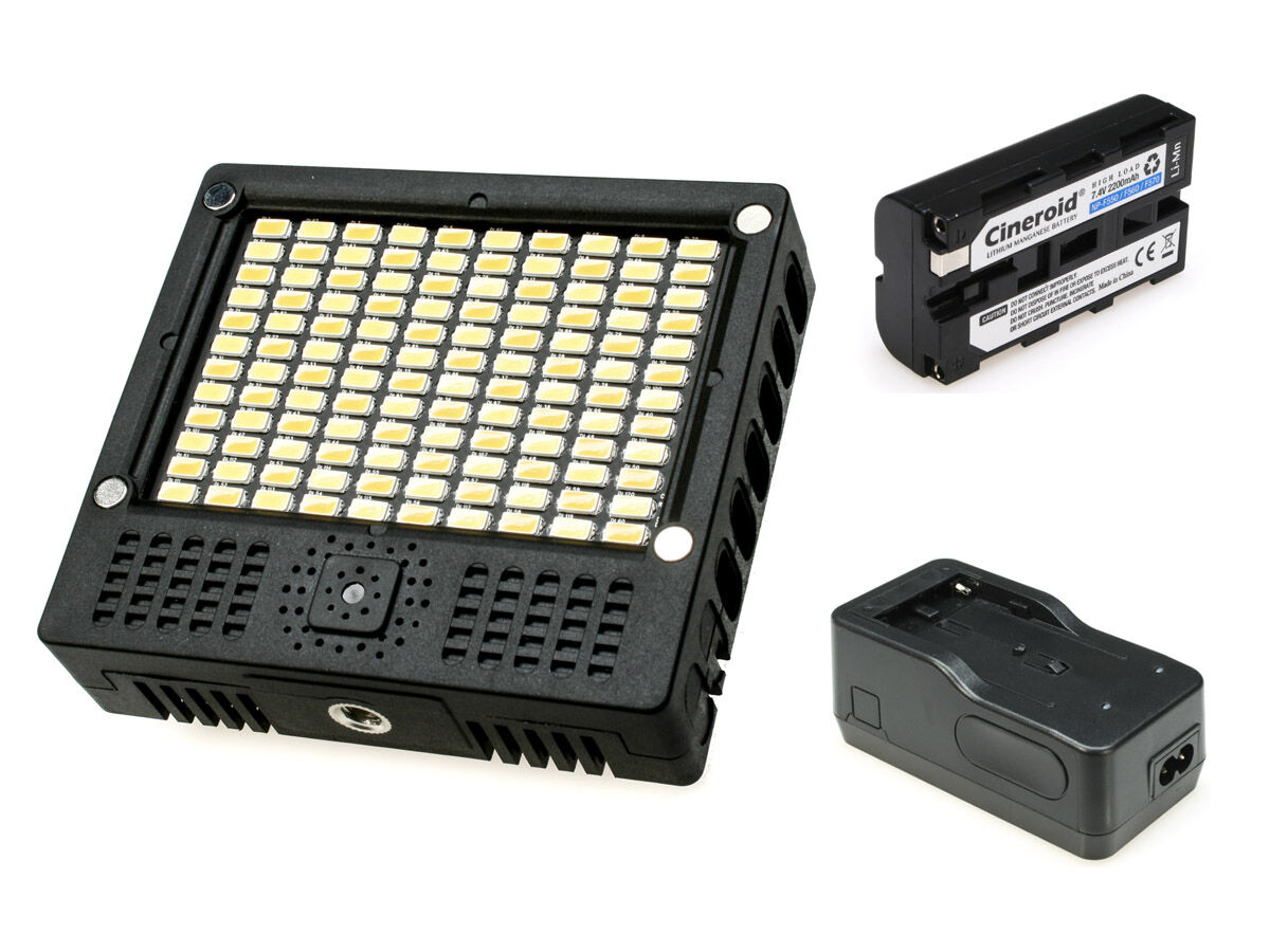 Cineroid LED-belysning L10-BC + lader + batteri
