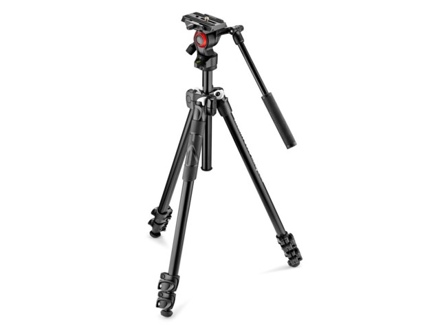 Manfrotto Stativkit med Video 290 Light + MVH400AH aluminium