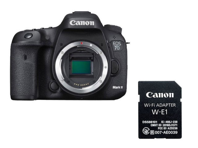 Canon EOS 7D Mark II kamerahus + WiFi adapter W-E1