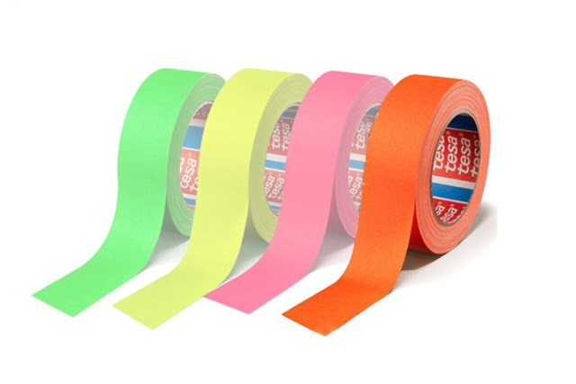 Tesa Duct tape 25mm x 25m orange Fluoriserende