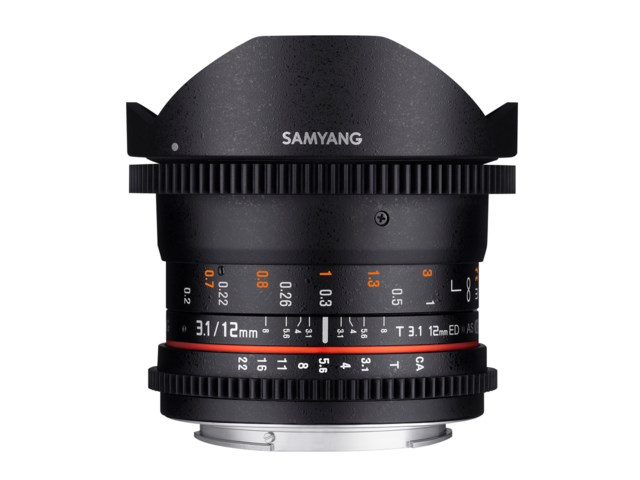 Samyang 12mm T3.1 VDSLR ED AS NCS Fisheye til Pentax K