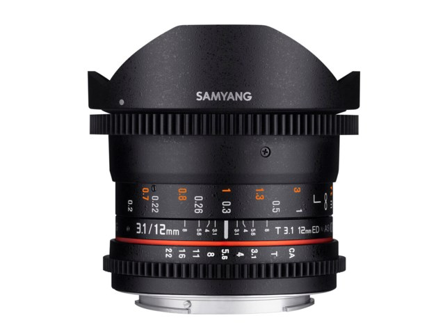 Samyang 12mm T3.1 VDSLR ED AS NCS Fisheye til Sony FE