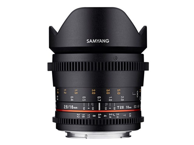 Samyang VDSLR 16mm T2.6 ED AS UMC til Sony FE