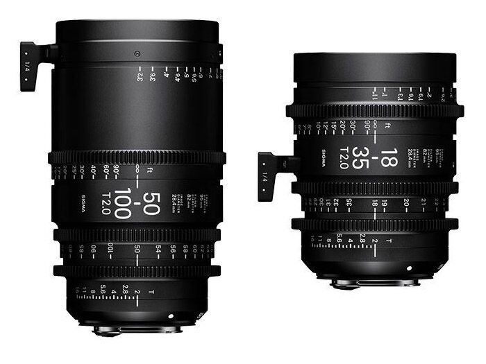 Sigma CINE 18-35mm T2 EF-mount + CINE 50-100mm T2