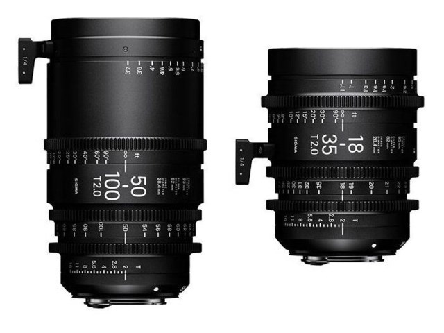 Sigma CINE 18-35mm T2  PL-mount + CINE 50-100mm T2