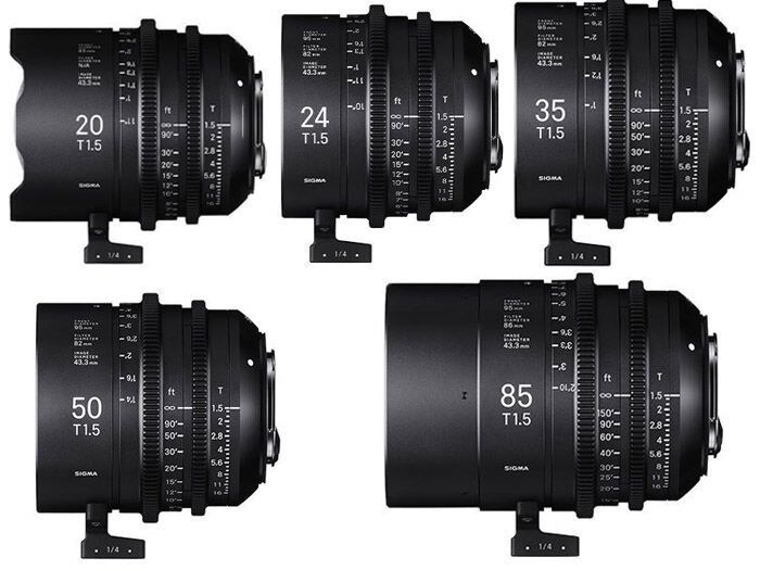 Sigma Five Prime Lenses kit Sony E-mount