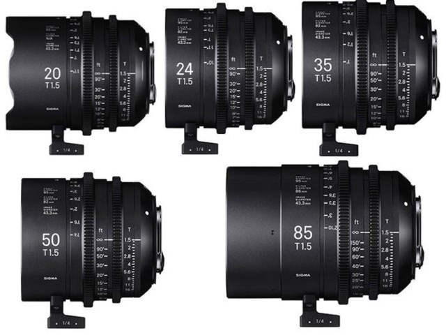 Sigma Five Prime Lenses kit PL-mount