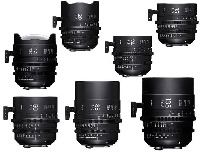 Sigma Seven Prime Lenses kit PL-mount