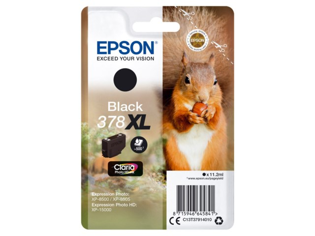 Epson Blekkpatron 378 XL Claria Photo HD svart 11,2 ml
