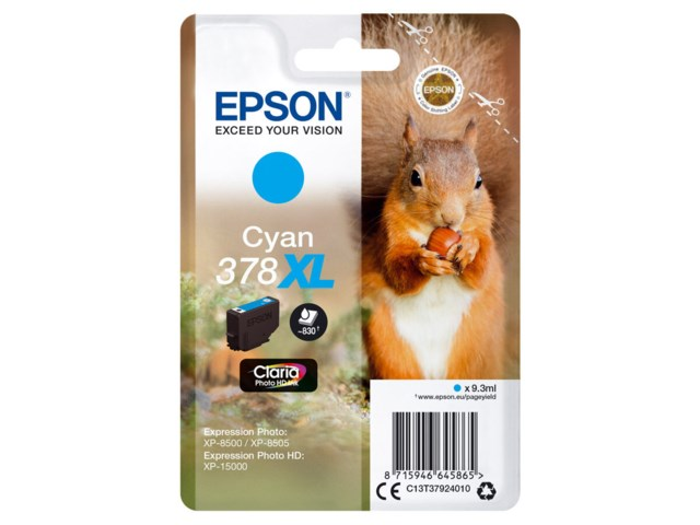 Epson Blekkpatron 378 XL Claria Photo HD cyan 9,3 ml