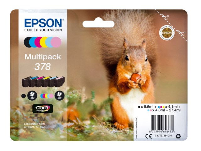 Epson Blekkpatron 378 Claria Photo HD multipack 6-pack