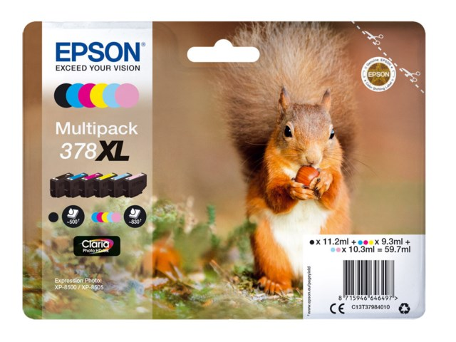 Epson Blekkpatron 378 XL Claria Photo HD multipack