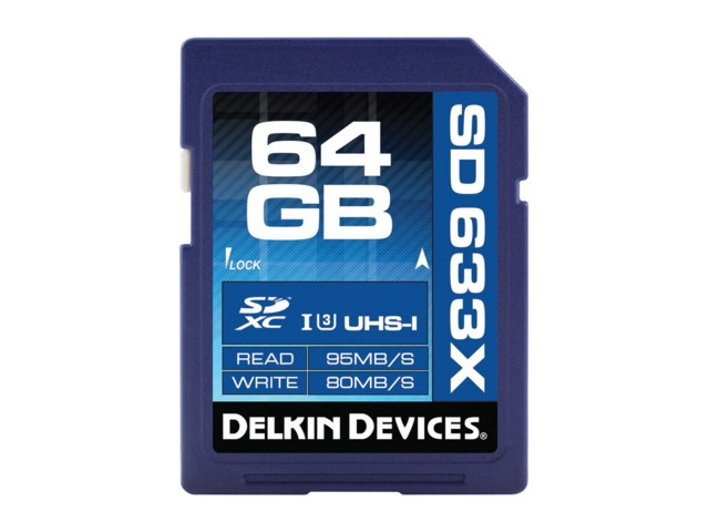 Delkin Devices Minnekort Secure Digital 64GB SDXC 95MB/s 633X UHS-I U3