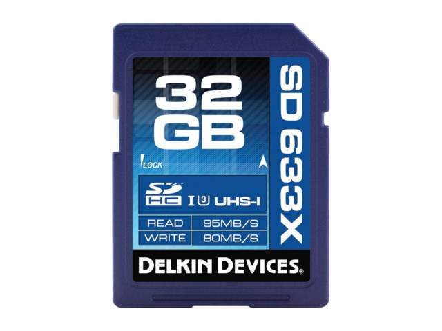 Delkin Devices Minnekort Secure Digital 32GB SDHC 95MB/s 633X UHS-I U3