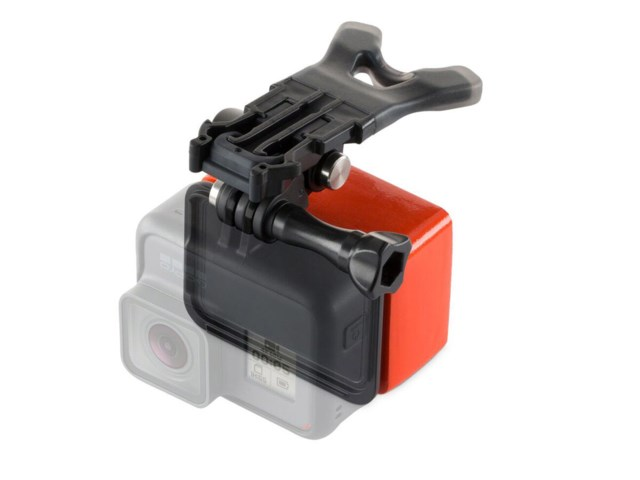 GoPro Bite mount + floaty til Hero 6/5/4 sort/sølv