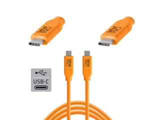 Tether Tools TetherPro kabel USB-C til USB-C 4,6 meter orange