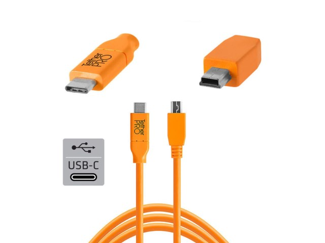 Tether Tools TetherPro kabel USB-C til 2.0 Mini-B 5-pin