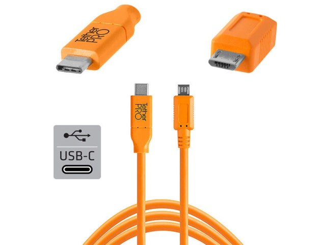 Tether Tools TetherPro kabel USB-C til 2.0 Micro-B 5-pin
