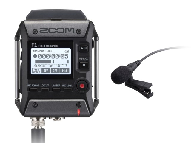 Zoom F1-LP Field Recorder + Lavalier Mic