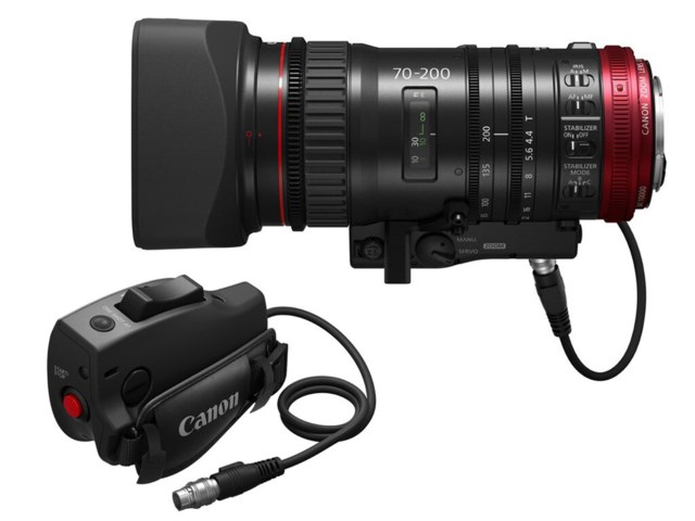 Canon CN-E70-200mm T4.4 L IS KAS S + Servo grip ZSG-C10