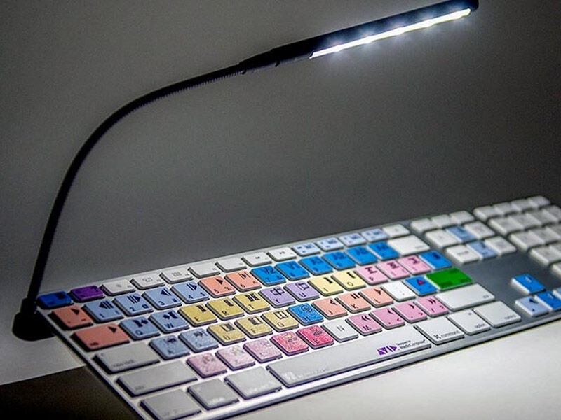 Logickeyboard Logiclight V2 USB LED keybord lampa svart