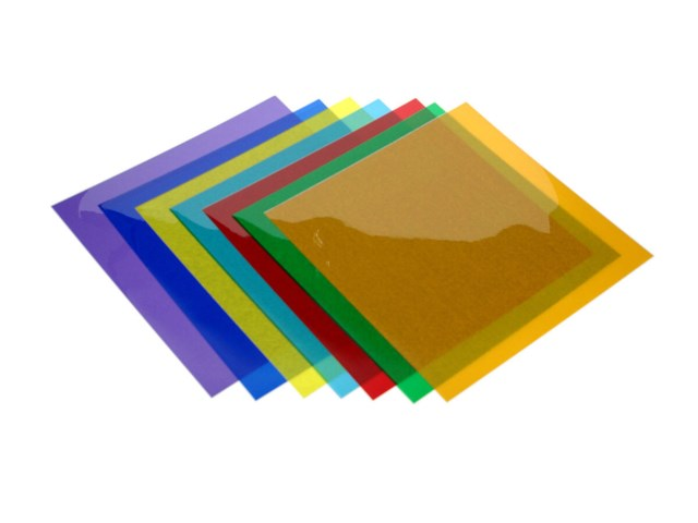 Big Filter i 7 farger for studioblits 30x30cm