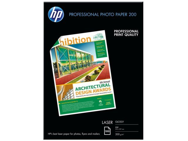 Hp Fotopapir A4 Professional Glossy Laser Photo