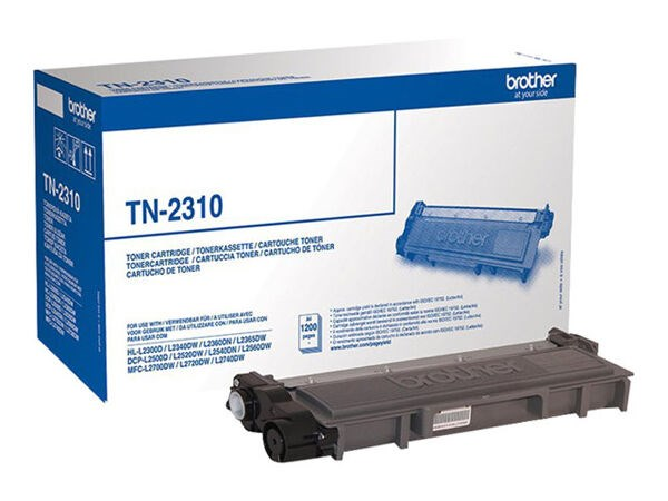 Brother toner TN2310 svart - DCP-L2500, DCP-L2560