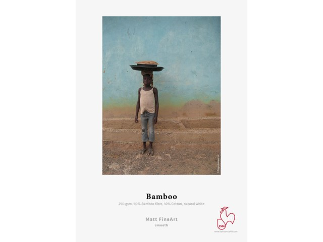 "Hahnemühle Fotopapir Bamboo rull 44"" x 12m 290gr"