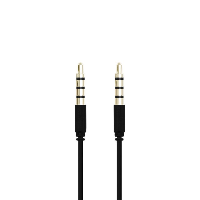 Champion 3,5mm audiocable 2m male-male 4pin black
